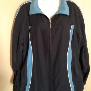 Green Tea size XL navy blue stripe jacket